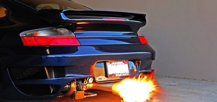 backfiring of engines